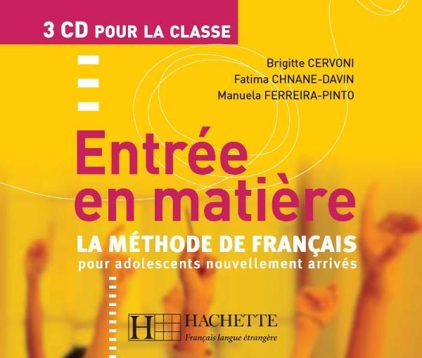 Entrée en matière - CD audio classe